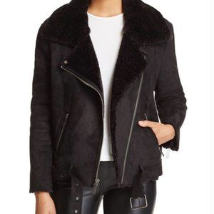 Dolce Vita faux suede and shearling aviator jacket